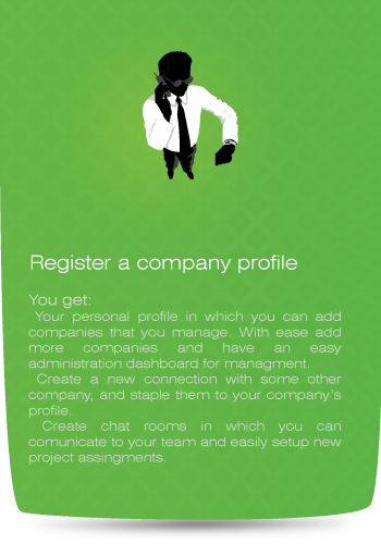 register a profile for your company!